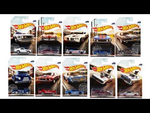 hot wheels vintage american muscle series! - youtube