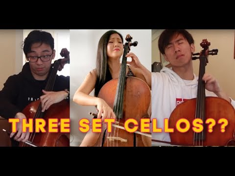 TwoSetViolin We Try Learning Cello in 1 Hour Response | The Swan by Saint Saens