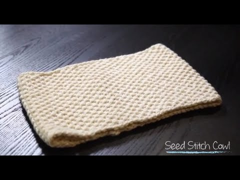 Knit Seed Stitch Cowl With Free Pattern 1 Hour Project Knitting