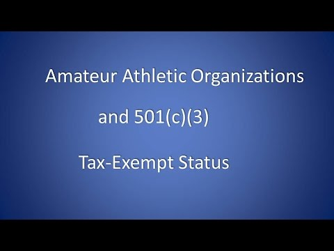 Amateur Athletic 501 C 3