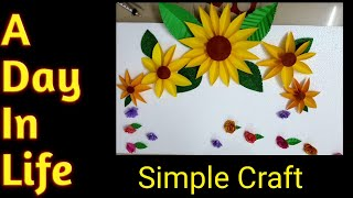 DIY GANESH DECORATION AT HOME || SIMPLE CRAFT IDEAS FOR GANESH CHATURTHI || A DAY IN LIFE.