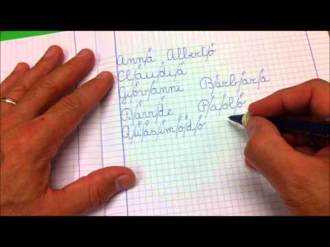 CORSIVO - Scrivere i nomi delle persone col metodo delle pause