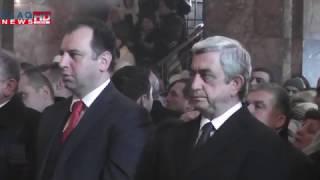 Slaq am ՀՀ նախագահը ներկա է գտնվել սբ  Սարգսի տոնին նվիրված պատարագին