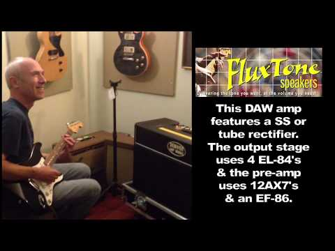 David Rutchinski Tries Out A FluxTone Speaker Equipped Guitar Amp.
