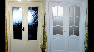 видео Замена стекла в межкомнатной двери: пошаговая инструкция