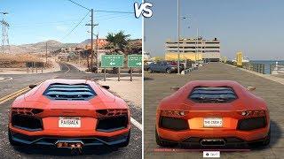 The Crew 2 vs NFS: Payback - Lamborghini Aventador Gameplay Comparison HD