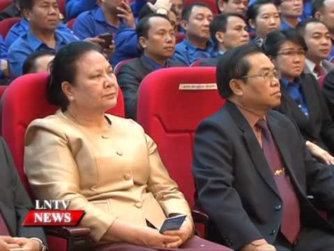 Lao NEWS on LNTV: Grand meeting held to salute youth achievements over the past 60 years.29/4/2015