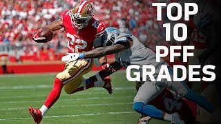 Top 10 Pro Football Focus Offensive and Defensive Player Grades | NFL