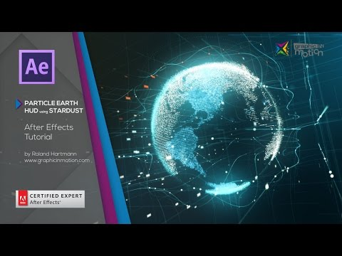 Particle Earth HUD using Stardust - After Effects Tutorial