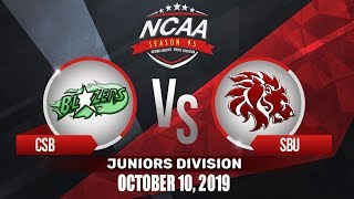 CSB vs. SBU | NCAA 95 Jrs Basketball | October 10, 2019