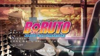 【BORUTO - ボルト ED4 Full】Game Jikkyosha Wakuwaku Band - デンシンタマシイを叩いてみた - Drum Cover