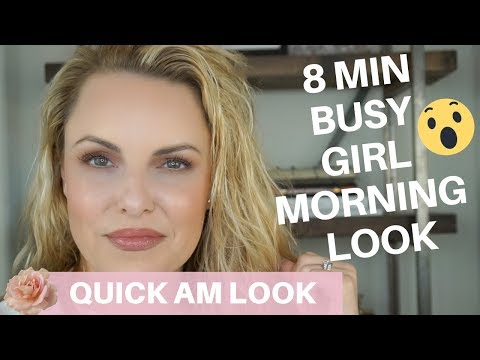 BEST 8 min. NATURAL & EASY MORNING ROUTINE 4 BUSY LADIES || Professional work look