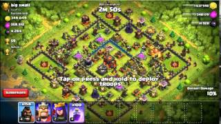 【clash of clans】300 Hogrider troop 100 Rage Raid 【Simulate】2015 8