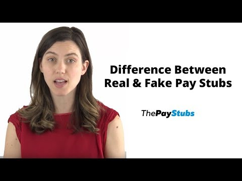How To Tell The Difference Between A Real And A Fake Pay Stub?