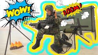 Военный набор для детей солдат радист и палатка Распаковка игрушки для мальчиков