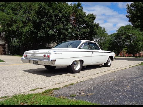 1962 Chevrolet Chevy Bel Air Bubble Top In White & 409 Engine Sound My Car Story With Lou Costabile