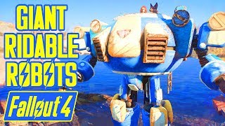 Fallout 4 - GIANT RIDABLE ROBOTS!!! - EPIC MOD ft. Vehicles, Flying, Behemoths & MORE - RidableBot