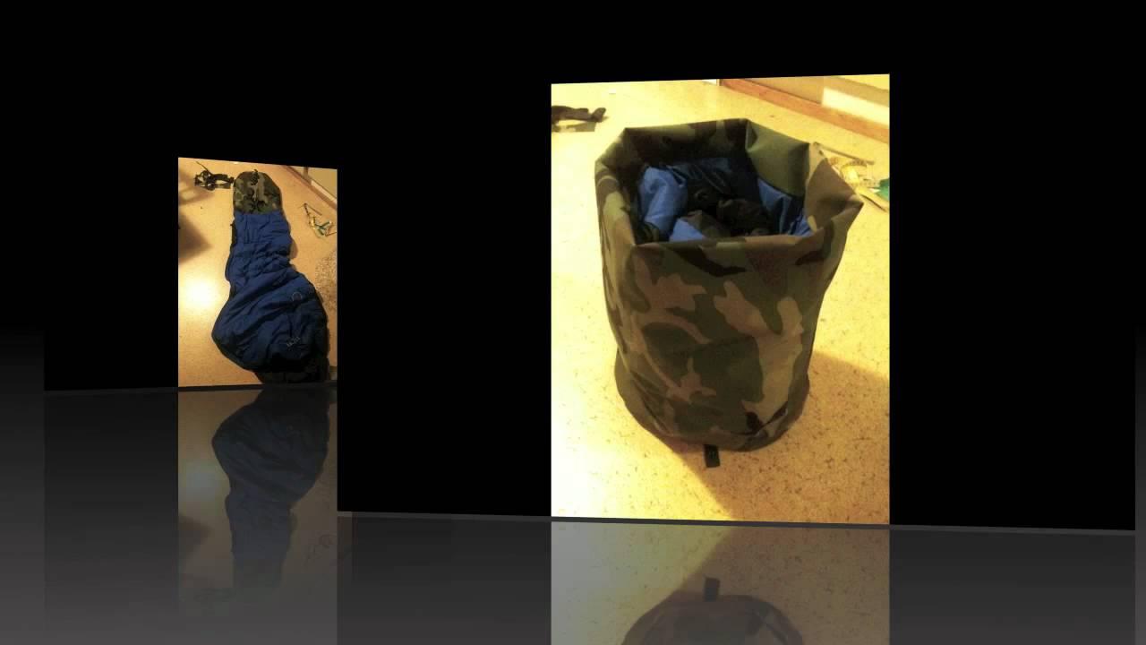 DIY waterproof sleeping bag bivy sack integration