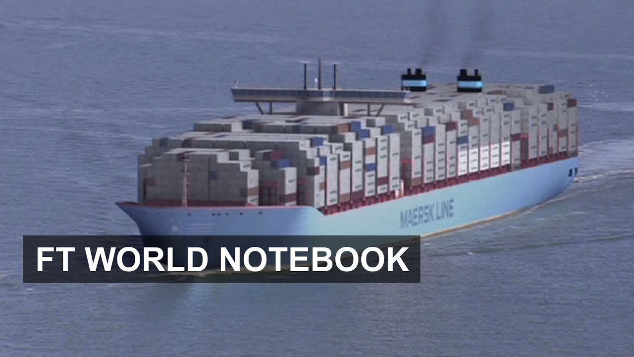 hight resolution of the world biggest container ship the majestic maersk ft world