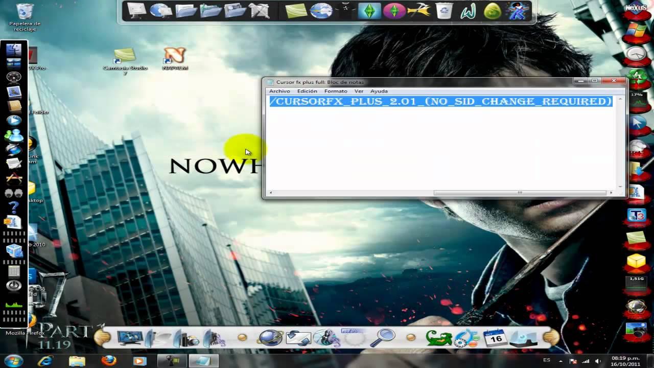 Descargar y instalar cursor fx plus (NO_REQUIERE_SID) crack FULL!!! - YouTube