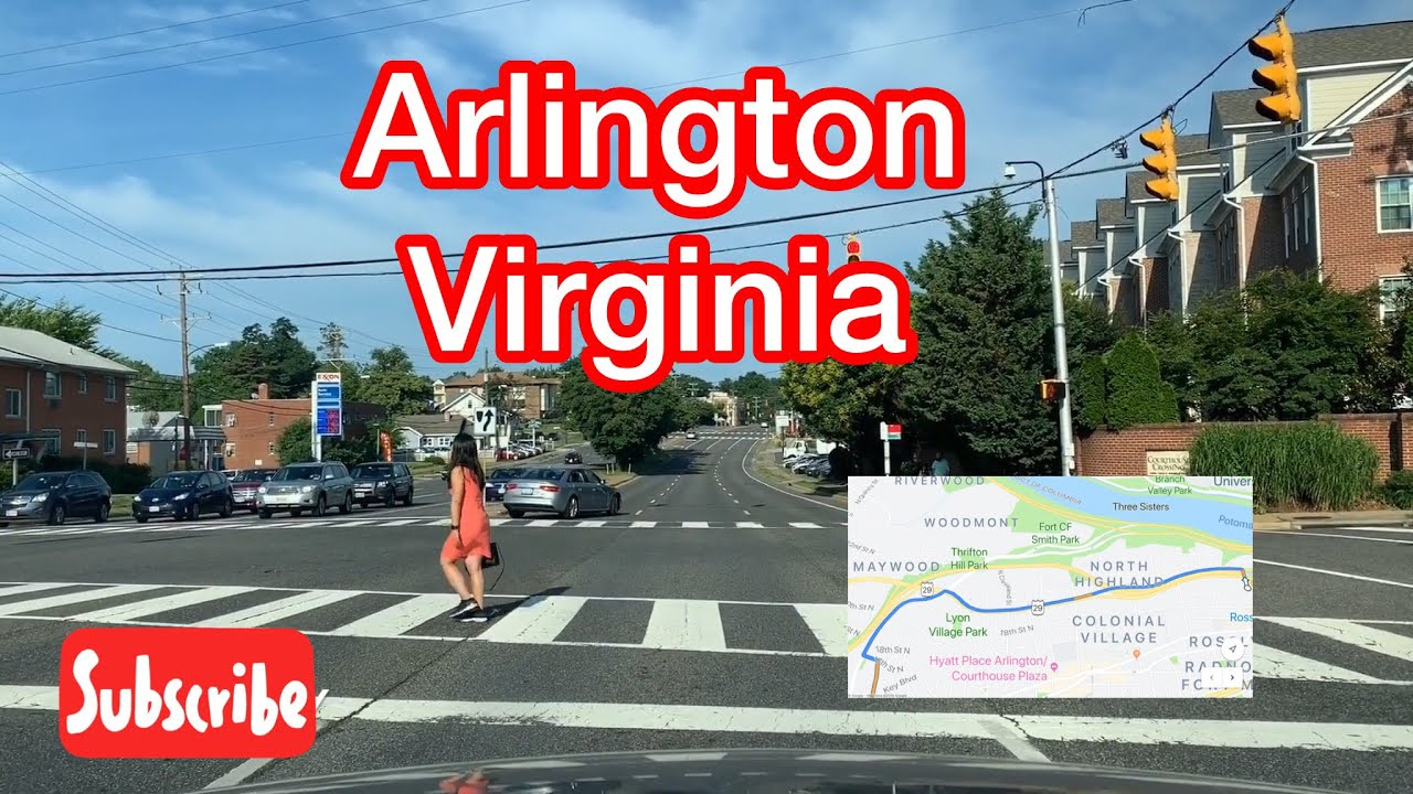 Driving Through Lee Highway (Rt 29) - Arlington, Virginia , USA | Residential Areas