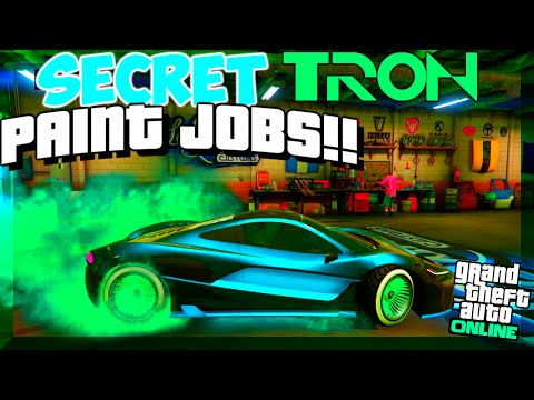 "GTA 5 Online: SECRET Paint Jobs - ""TRON"", GLOWING PINK, CHRONIC! BEST Paint Jobs (GTA V)"