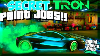 "GTA 5 Online: SECRET Paint Jobs - ""TRON"", GLOWING PINK, CHRONIC! BEST Paint Jobs (GTA V)"