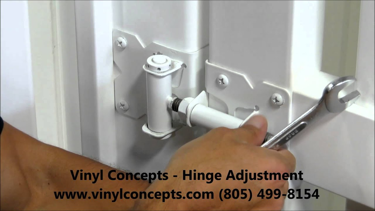 Vinyl Concepts Gate Hinge Adjustment Youtube