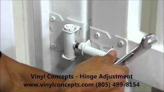 Vinyl Concepts Gate Hinge Adjustment