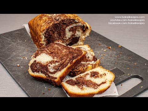 Easy Chocolate Marble Cake Recipe 4K