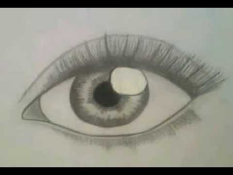 How to draw realistic eye for beginners easy step by step german with english subtitels