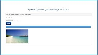 Jquery Ajax File Upload with Progress Bar in PHP