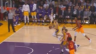 Lonzo Ball Turns Into JR Smith & Rajon Rondo Giving Up Wide Open Layup!