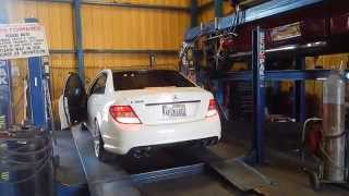 Mercedes-Benz C300 X-Pipe + Muffler Delete First Start + Revs