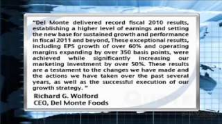 Earnings Report: Del Monte Foods Co. Reports Fiscal 2010 & Q4 Earnings (NYSE:DLM)