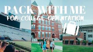 PACK WITH ME for COLLEGE ORIENTATION