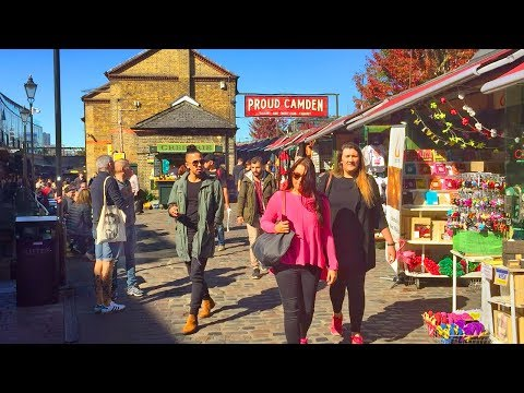 LONDON WALK | Camden Town incl. Camden Market, Lock and High Street | England