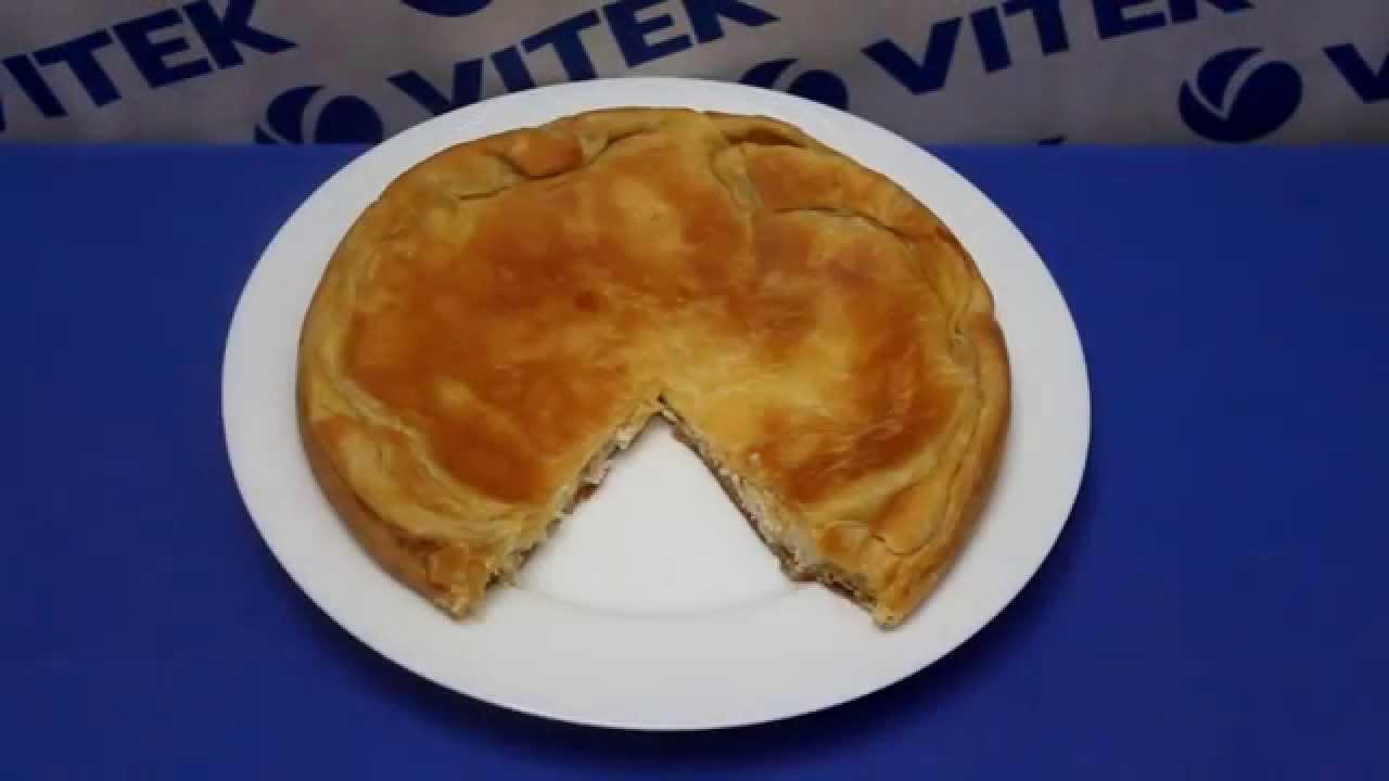 Пирог с курицей в слоеном тесте в мультиварке 5