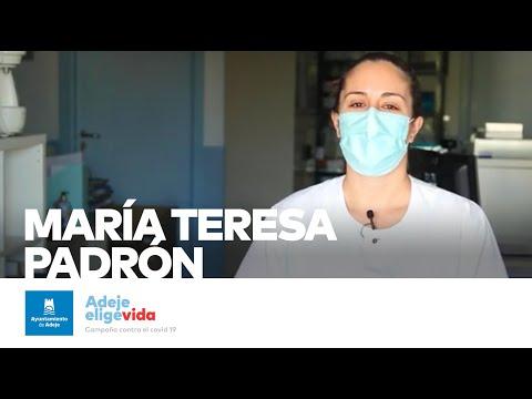 ver video: María Teresa elige vida. Adeje elige vida.