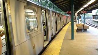 BMT Brighton Line: R160B Siemens Q Train at Sheepshead Bay (Manhattan Bound)