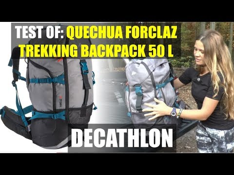 86fe915e5fc65 QUECHUA FORCLAZ Trekking Backpack 50 L DECATHLON - YouTube