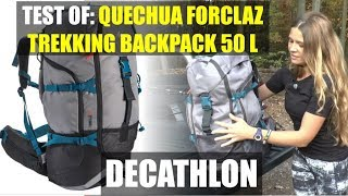 QUECHUA FORCLAZ Trekking Backpack 50 L DECATHLON