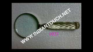 India Magnifying Glasses With Glass Handle-indian Touch