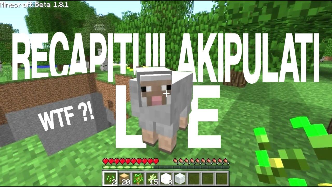 """Vidéo commentée sur Minecraft ! GROS BUG ! """"Le récapituilakipulati"""""""