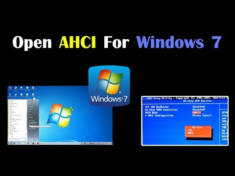 Open AHCI Mode For Windows 7