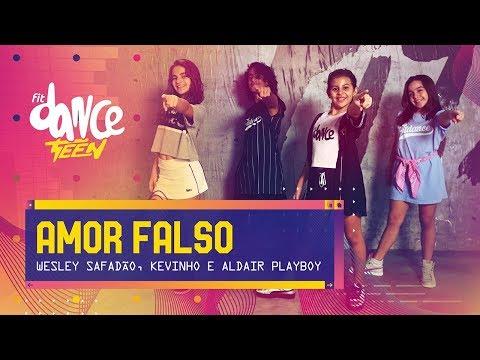 Amor Falso - Wesley Safadão Kevinho e Aldair Playboy  FitDance Teen Coreografía Dance