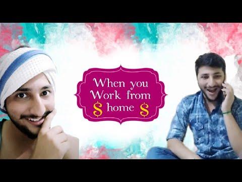 When you work from home | Nagesh Bhogesara