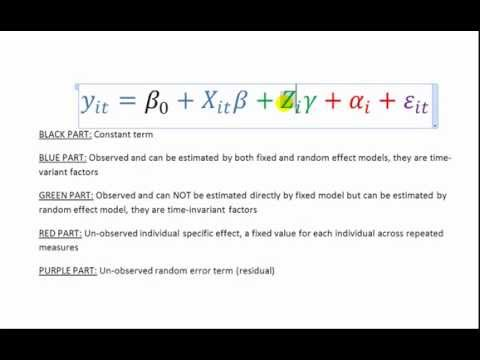 Stata Video 11 - Modeling Longitudinal Data with Fixed- and Random-effect
