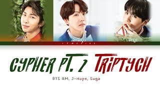 BTS RM, J-Hope, Suga - BTS Cypher PT. 2 : Triptych [Color Coded Lyrics/Han/Rom/Eng/가사]