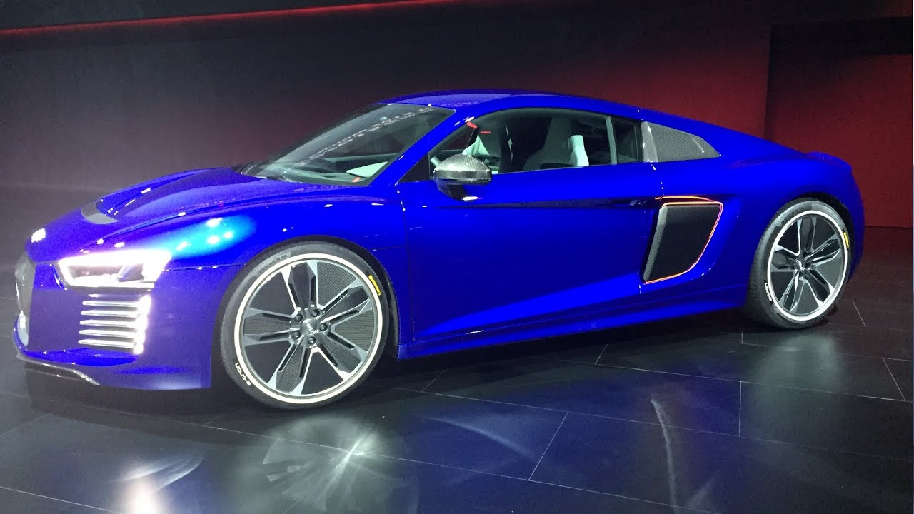 Audi R8 E Tron Piloted Driving Launch Self Driving Sportscar Youtube